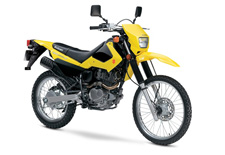 The 2017 Suzuki DR200S is the affordable motorcycle that can tackle a dirt trail or be a street commuter that gets 88MPG with its reliable 199cc engine complete with push-button electric-starting, telescopic front forks, a 3.3 gallon tank, and abundant torque. This makes the DR200S is the intelligent choice for trail enthusiasts and commuters alike. With sharp, competition-like styling, bright yellow or black bodywork with distinctive graphics, and a reasonable 33.3 inch seat height, this 278 pound cycle delivers the agile maneuverability and fun Suzuki is known for.